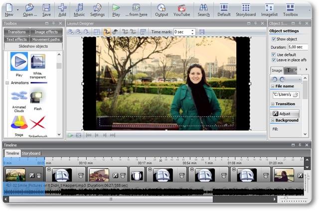 AquaSoft SlideShow for YouTube - Imagem 1 do software