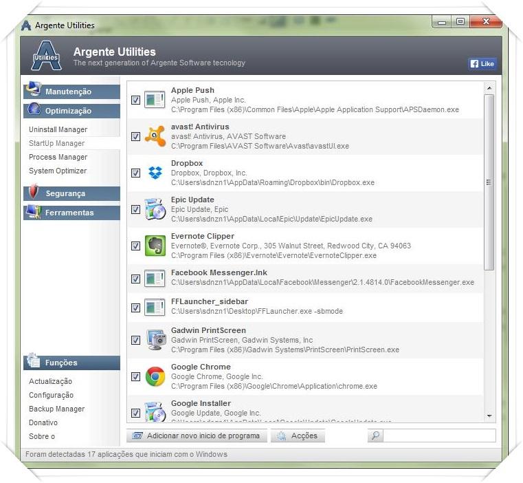 Argente Utilities - Imagem 2 do software