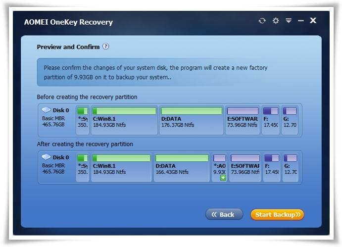 AOMEI OneKey Recovery Download para Windows Grátis