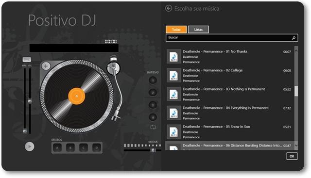 PositivoDJ - Imagem 1 do software