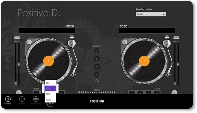 PositivoDJ - Imagem 2 do software