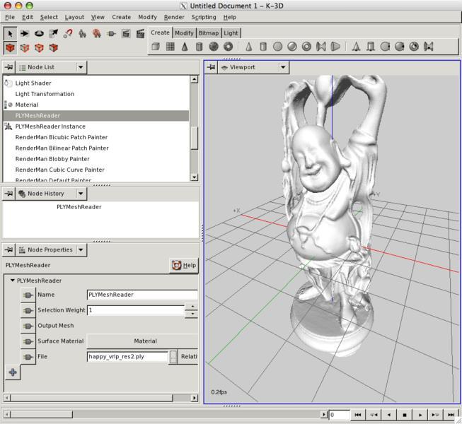 K-3D - Imagem 1 do software