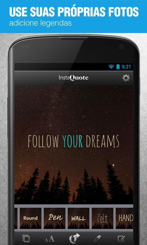 InstaQuote: add text to photos - Imagem 2 do software