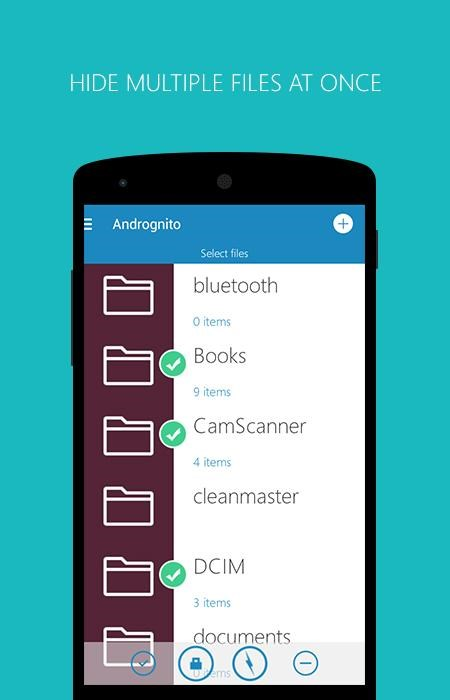 Andrognito 2 - Hide Files - Imagem 1 do software