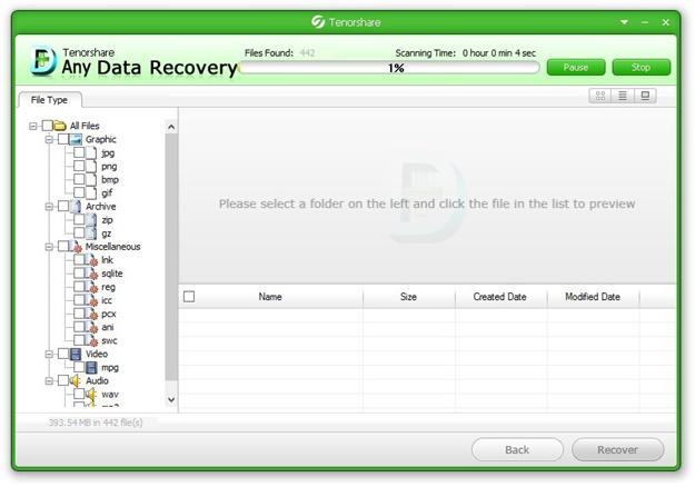 Any Data Recovery - Imagem 2 do software