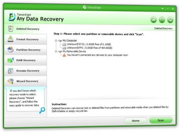 Any Data Recovery - Imagem 1 do software
