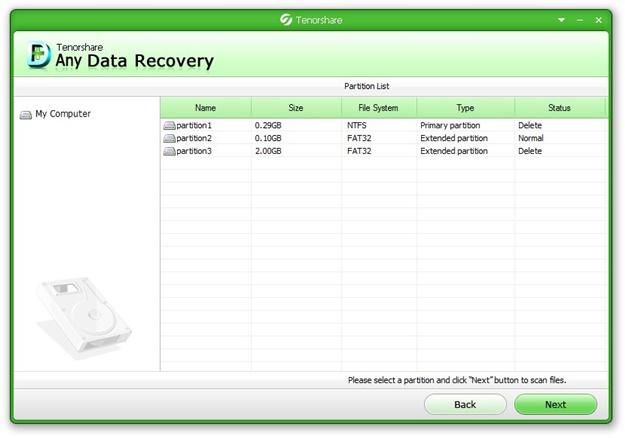 Any Data Recovery - Imagem 3 do software