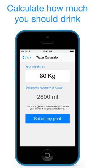 Beber Água - Imagem 2 do software