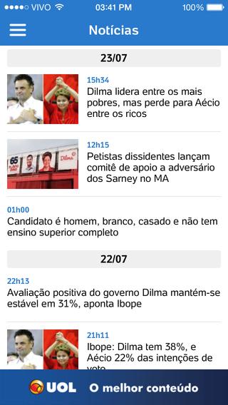 UOL Eleições - Imagem 2 do software