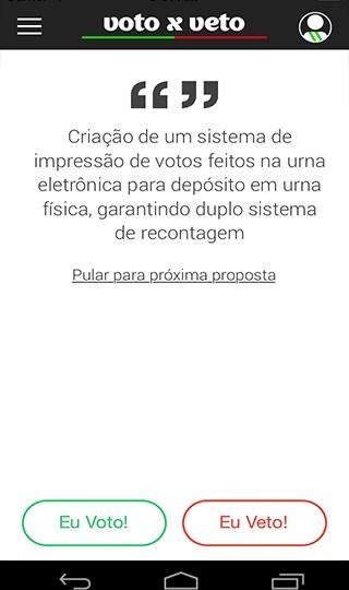 Voto x Veto - Imagem 1 do software