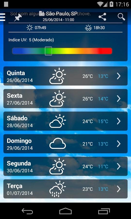 Climatempo - Previsão do Tempo - Imagem 2 do software
