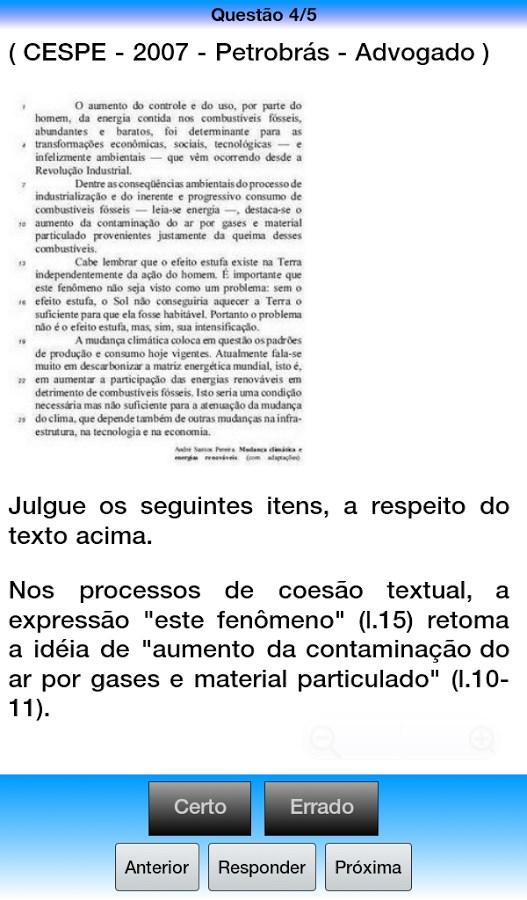 Português p/ Concursos Online - Imagem 1 do software