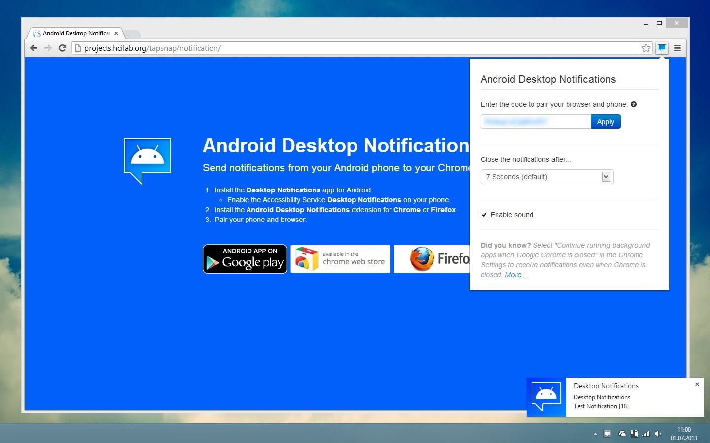 Desktop Notifications Download para Android Grátis