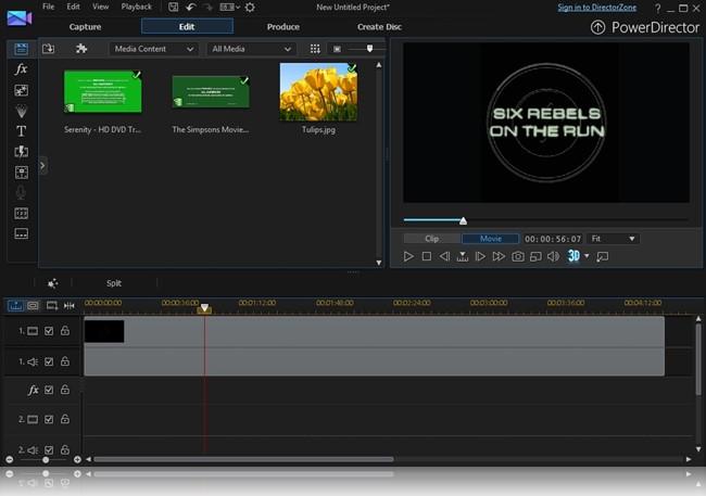 CyberLink PowerDirector - Imagem 4 do software