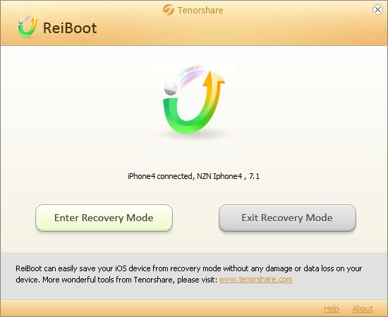Tenorshare Reiboot - Imagem 1 do software