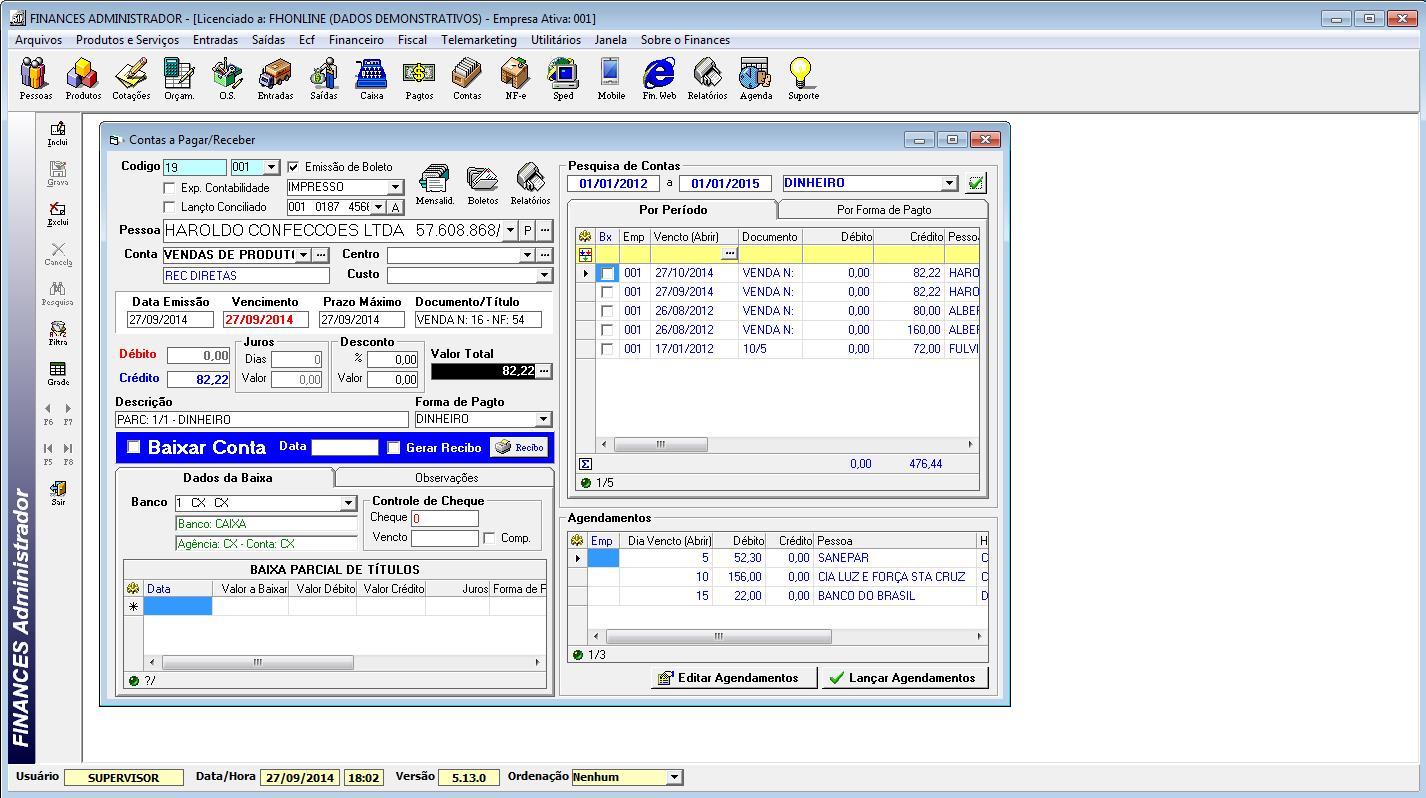 Finances Administrador - Imagem 2 do software