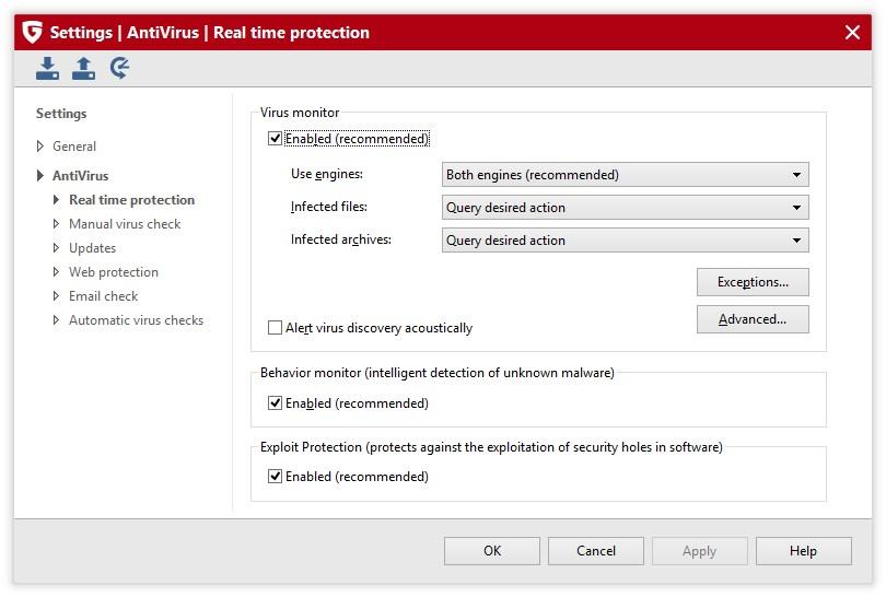 G Data AntiVirus - Imagem 3 do software