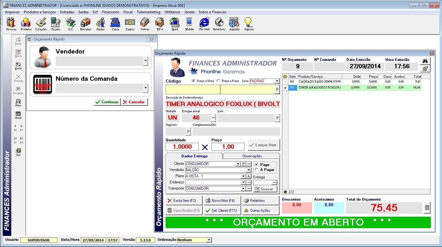 Finances Administrador - Imagem 1 do software