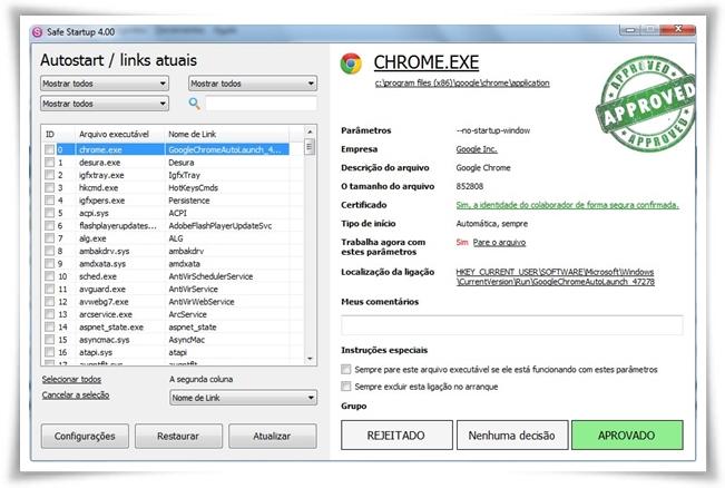 Safe Startup - Imagem 1 do software