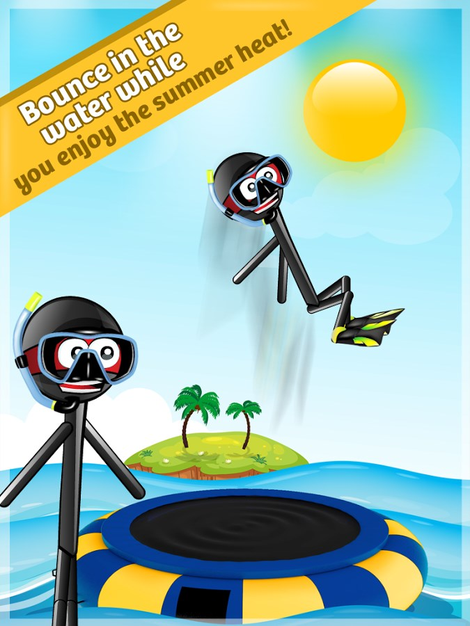 Stickman Water Trampoline FREE - Imagem 1 do software