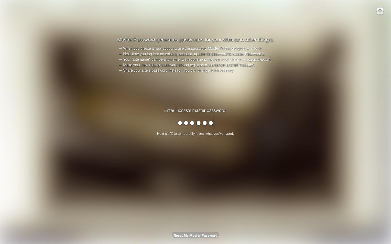 Master Password - Imagem 2 do software