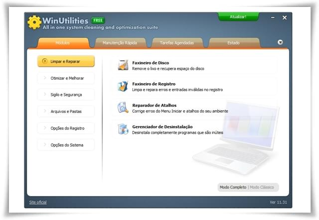 WinUtilities Free - Imagem 1 do software