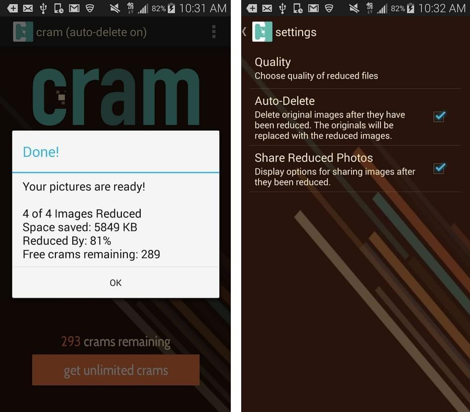Cram - Reduce Pictures - Imagem 2 do software