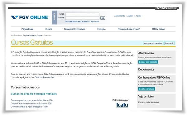 Fgv Online Cursos Gratuitos Download Para Web Gratis