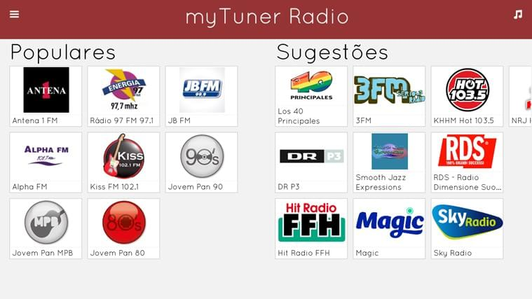 myTuner Radio - Imagem 1 do software