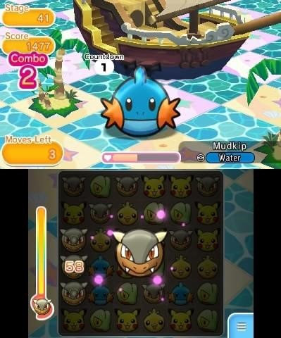 Veja novo video e fotos de Pokémon Shuffle para 3DS