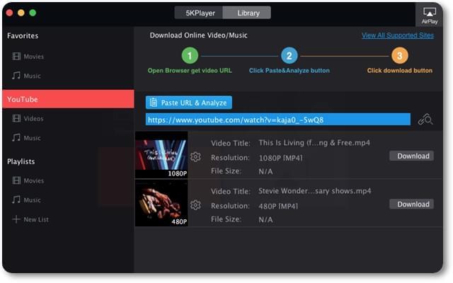 5kPlayer - Imagem 3 do software