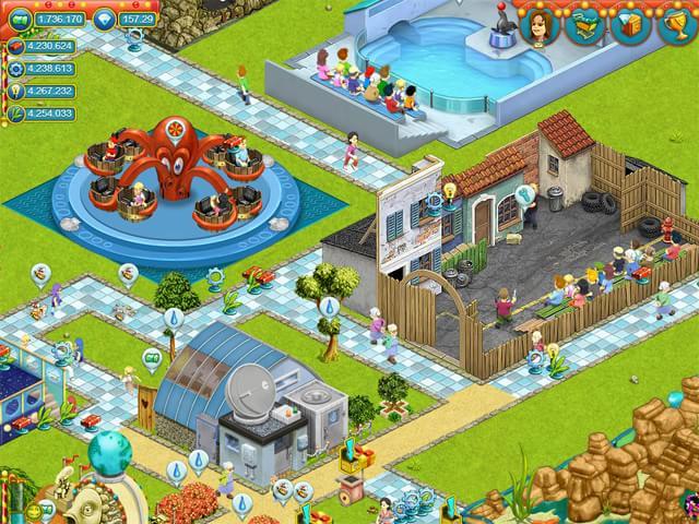 Freizeitpark Bauen Spiel