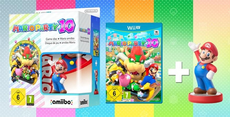 Bundle: Mario Party 10 + Mario Amiibo