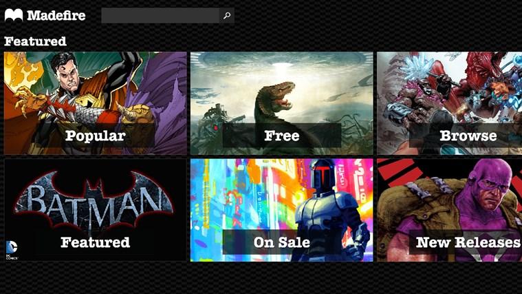 Madefire - Imagem 1 do software