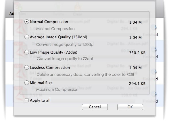 Cisdem PDFCompressor - Imagem 2 do software