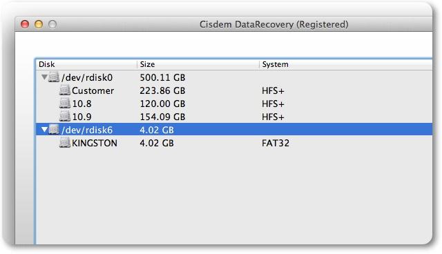 Cisdem DataRecovery - Imagem 2 do software
