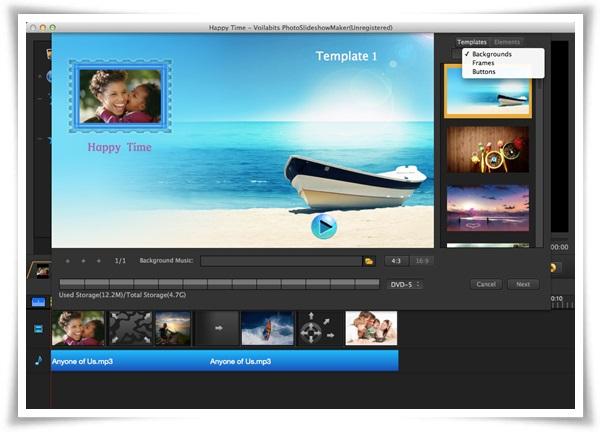 Voilabits PhotoSlideshow Maker for Mac - Imagem 3 do software