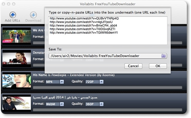 Voilabits FreeYouTubeDownloader - Imagem 1 do software