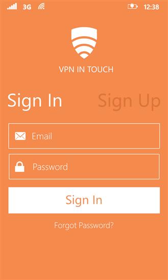VPN in Touch for Windows Phone - Imagem 2 do software