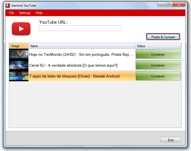 application android pour telecharger youtube mp3