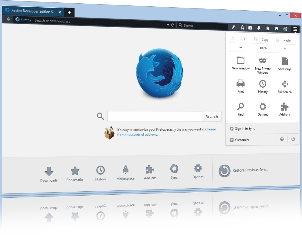 Firefox Developer Edition - Imagem 1 do software