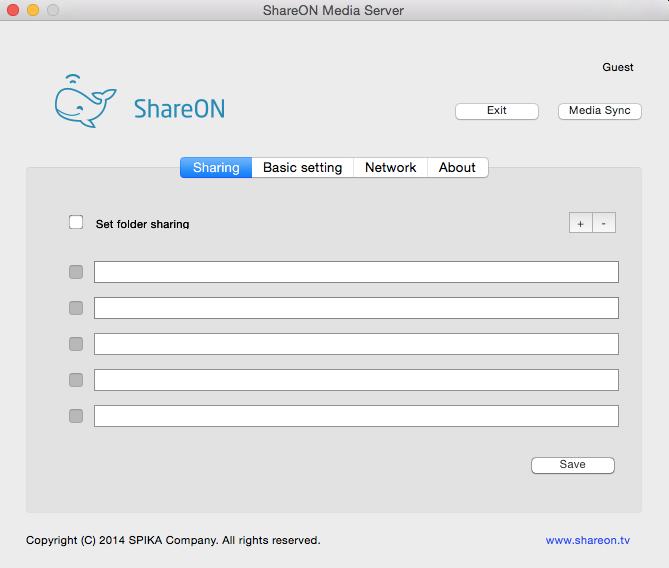 ShareON - Imagem 1 do software