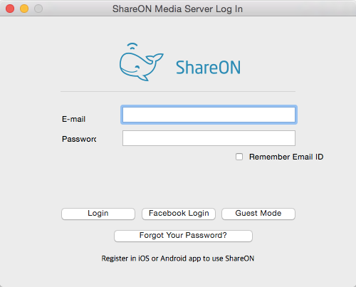 ShareON - Imagem 2 do software