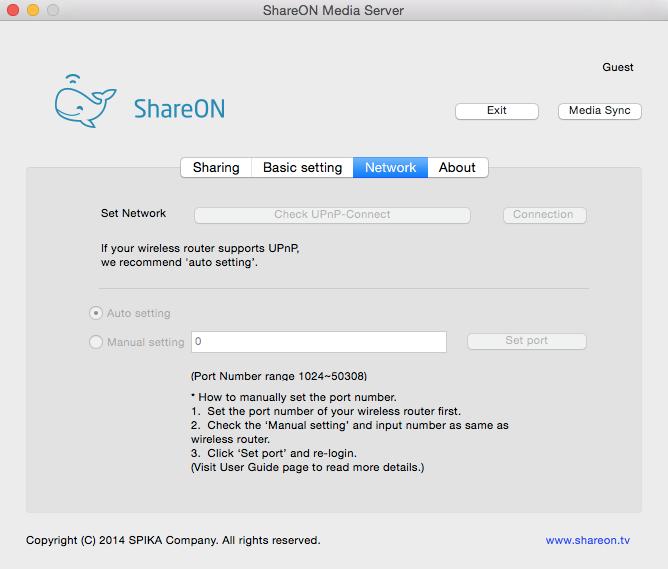 ShareON - Imagem 3 do software