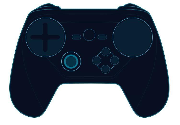 Diferentes versões do controle da Valve.
