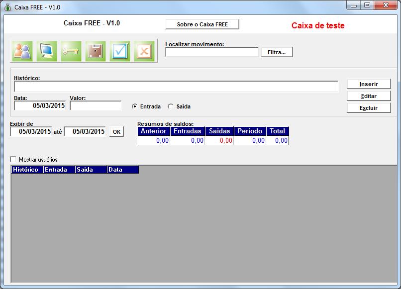 Caixa FREE - Imagem 1 do software