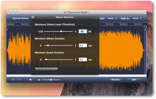AppleMacSoft MP3 Splitter for Mac - Imagem 1 do software