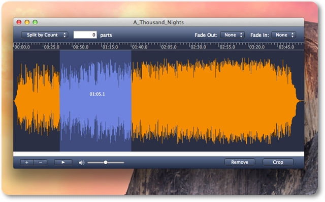 AppleMacSoft MP3 Splitter for Mac - Imagem 2 do software