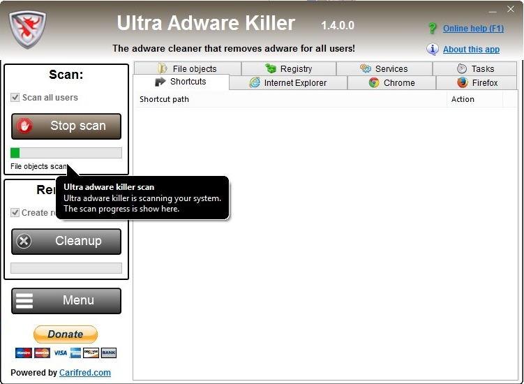 Ultra Adware Killer - Imagem 1 do software