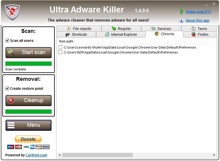 Ultra Adware Killer - Imagem 2 do software